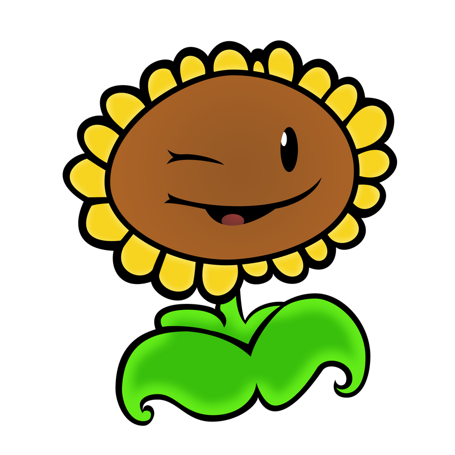 plants vs zombies sunflower vector by 2bitmarksman on deviantart rh 2bitmarksman deviantart com