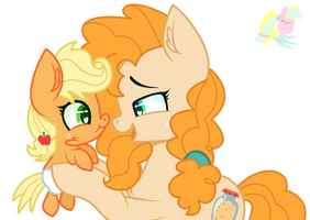 Mlp Pear Butter And Applejack by ShiroSunshineYT