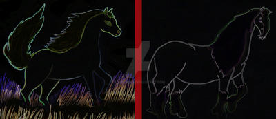 Horse Sketches... by Aqeel-Iraq