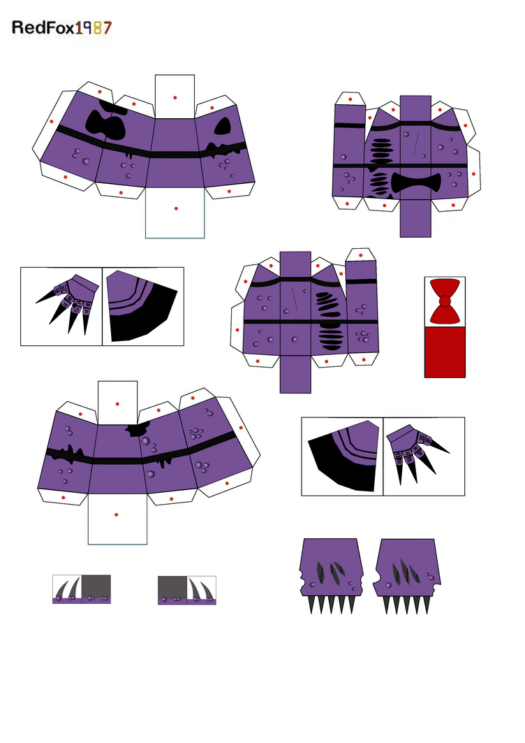 twisted bonnie papercraft part 2 by redfox1987 on deviantart