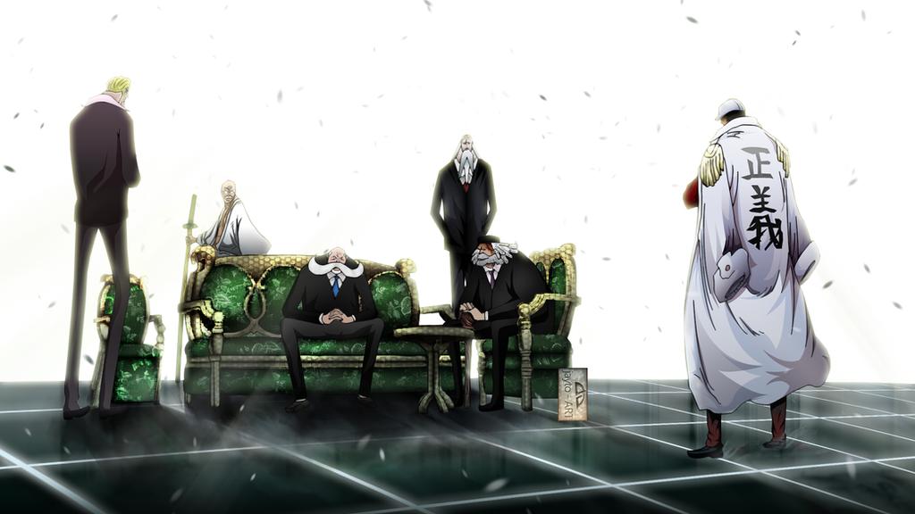 Baby Steps {Gorosei, and Celestial Dragon Meeting} Akainu_vs_gorosei_by_jayto91-d967ez5