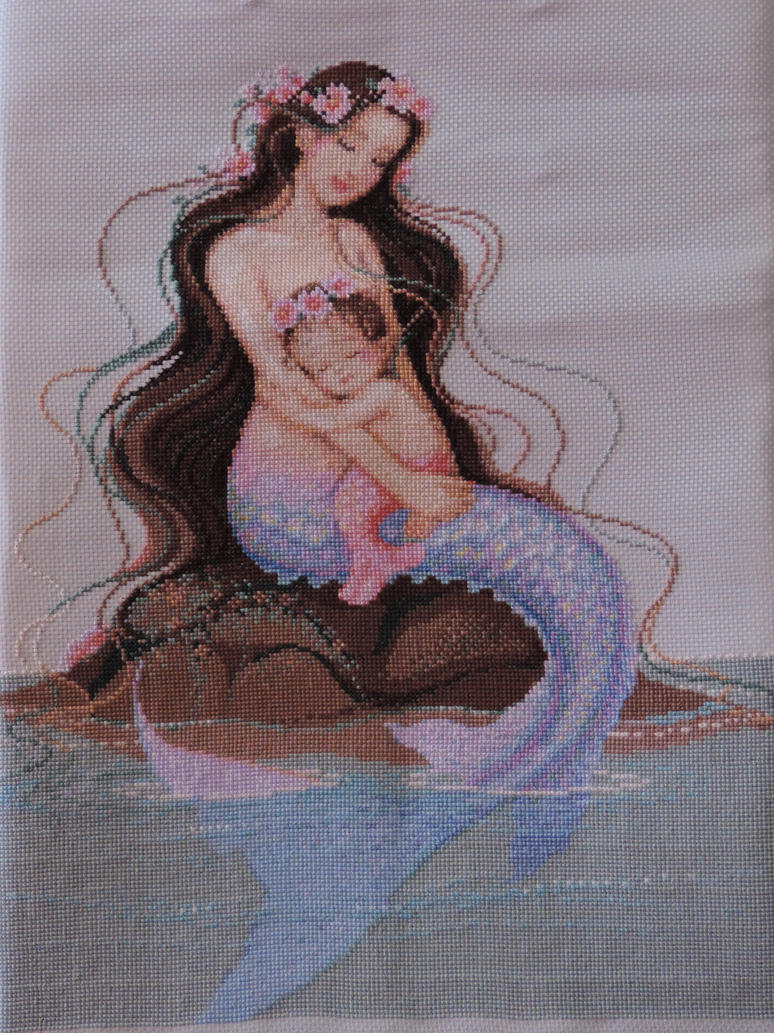 Mermaid Cross-Stitch by MalteseSparrow