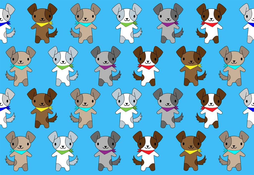 Puppy Pattern Wallpaper By Mythicdragon30 On Deviantart