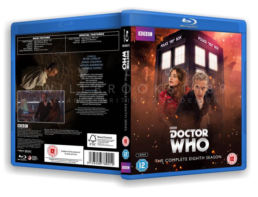 Doctor Who - Series Eight Blu Ray Case by willbrooks