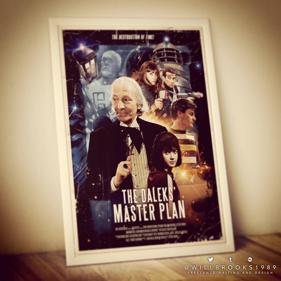 Doctor Who: Daleks' Master Plan Retro Poster by willbrooks
