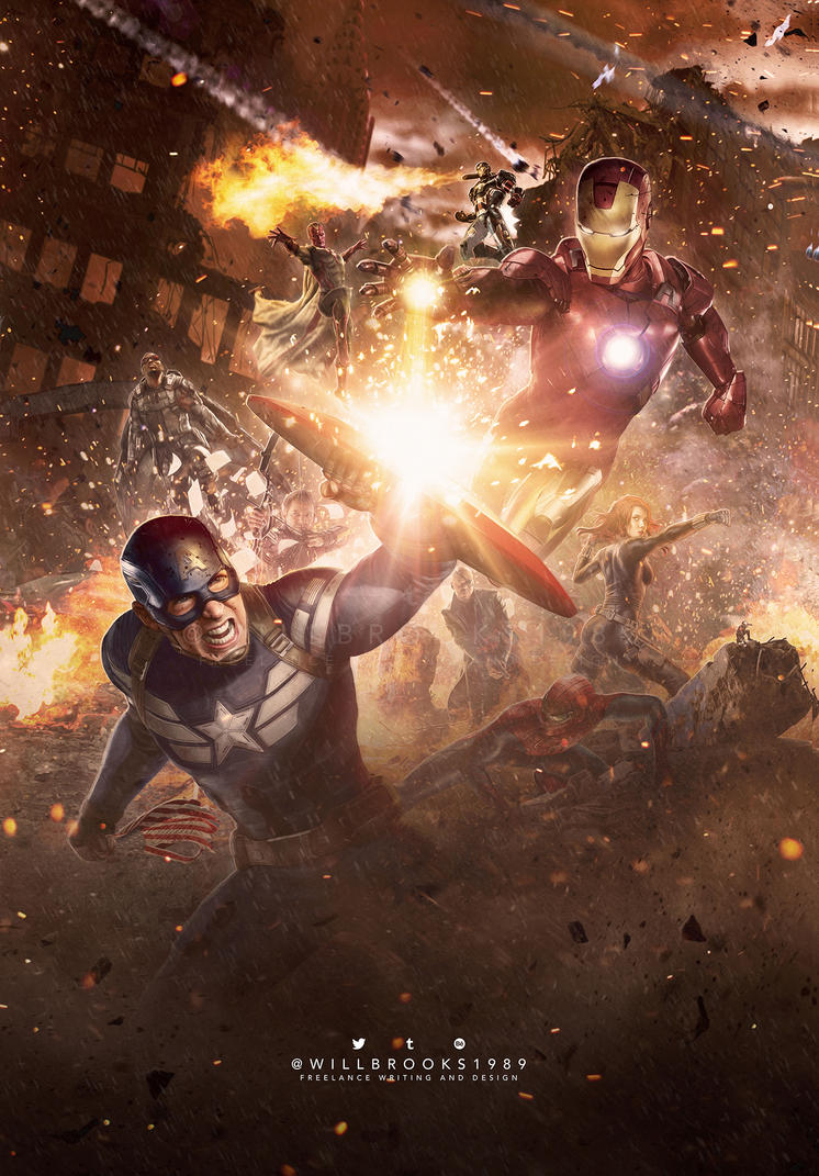 Captain America: Civil War - Poster Art by willbrooks