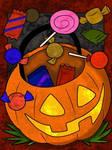 Pumpkin Candy Bucket Coloring