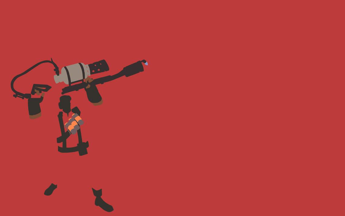 Pubg Sketch Wallpaper Download: TF2 Red Pyro Minimalist Wallpaper By Bohitargep On DeviantArt