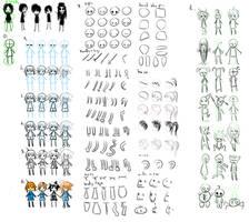 Tutorial-ish: Stick chibies by Hizoku-no-Oni