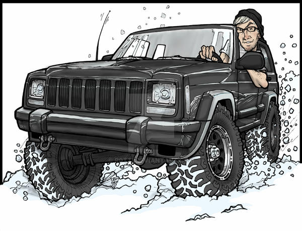High Quality Jeep Cherokee Commission Art By R0tti ...