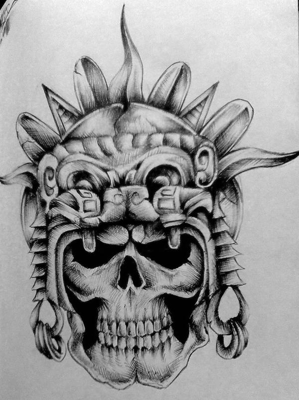 aztec skull tattoos. Were they were they were aztec