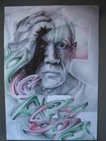 Pablo Picasso Graff by Pick1