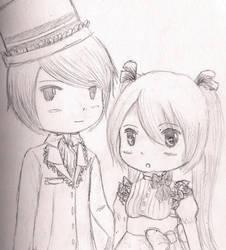 MikuxKaito Chibi Lolita by RevuriiMezaaransu