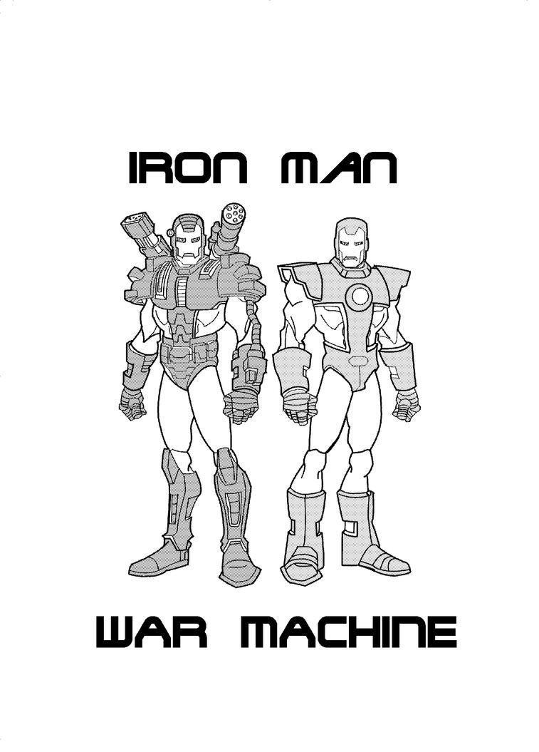iron man and war machine by gundamu on deviantart