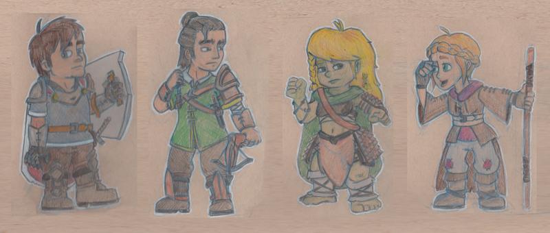 Saga of the Saviours CHIBIs by Manda-of-the-6