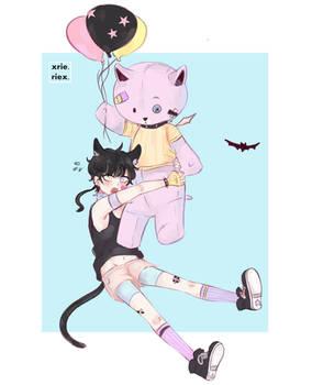 Balloon Bear Neko