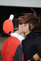 Kissing by DorkDevil