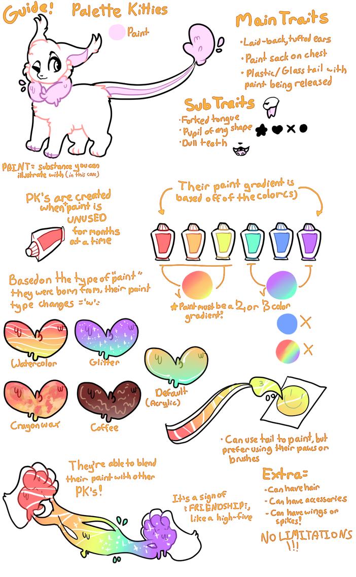SEMI-OPEN SPECIES - Palette Kitties Guide by kitteors