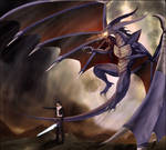 Bahamut and Squall