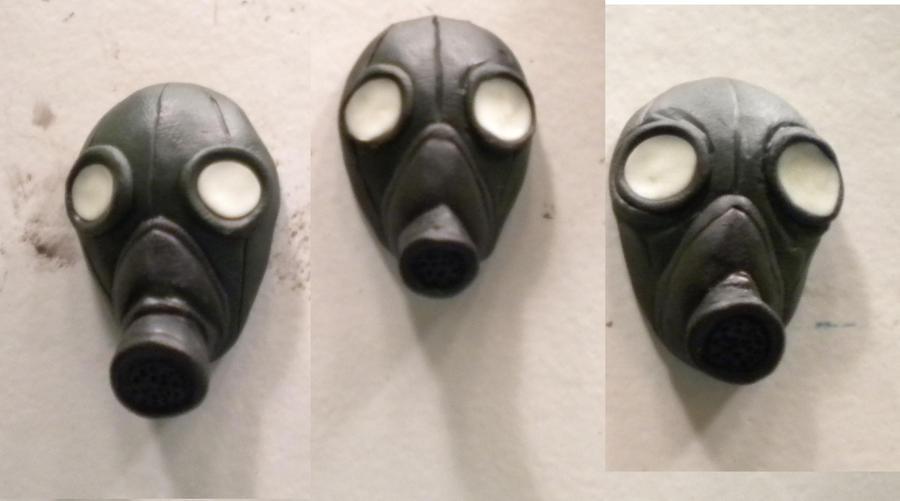 Gas Mask Pendants by sneakyfetusprod