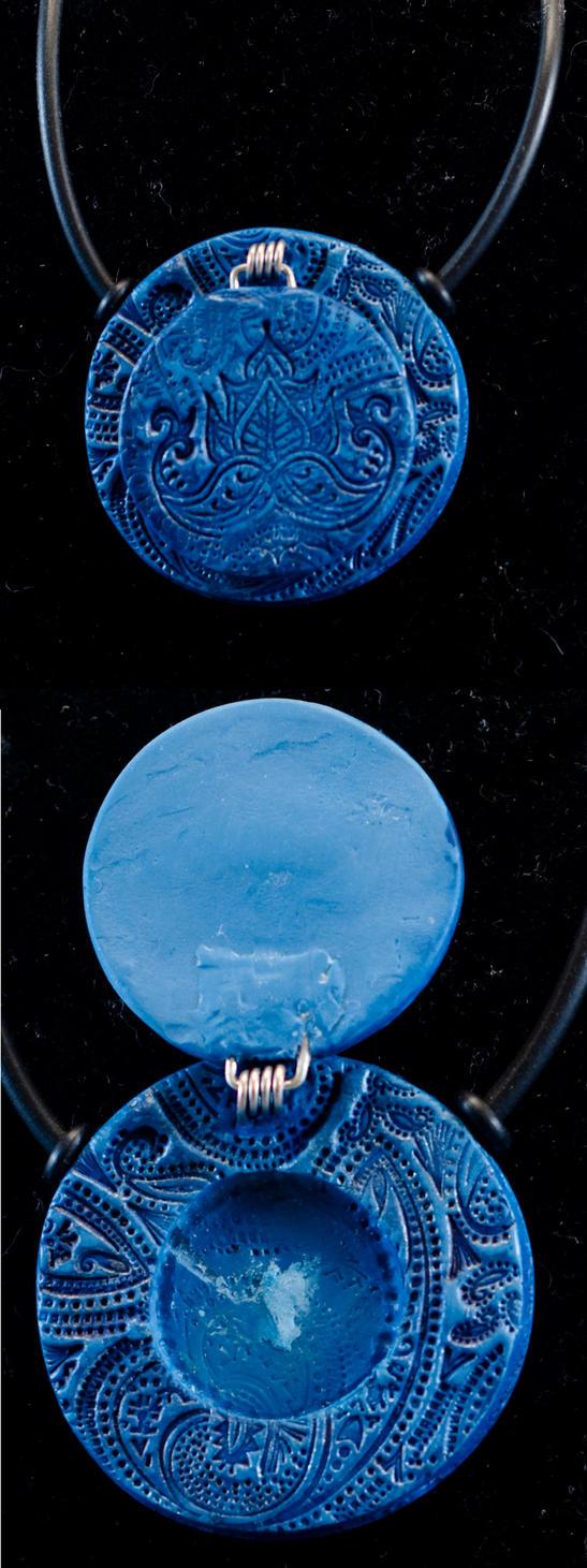 Blue indian locket by sneakyfetusprod