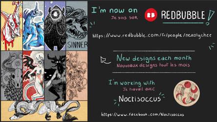I'm on RedBubble! by NekoLychee