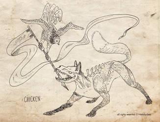 Inktober 2018 - 5 Chicken by NekoLychee