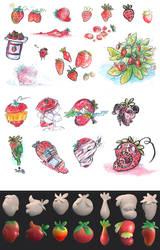 School work: Concept Art Strawberries