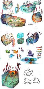 School work: Concept Art Pond