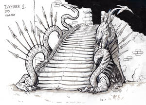 Inktober 2019 - 1 Staircase