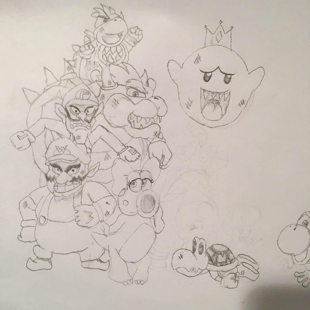 Mario Characters Pencil Sketch By Kshann On Deviantart