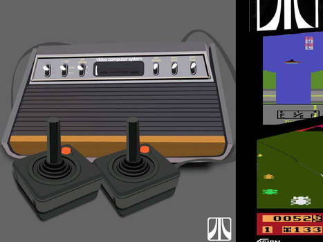Atari Video Game System by jirayaaap