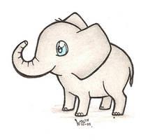 Chibi Elephant by WildHusky318