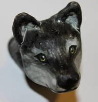 Little wolf Head by WildHusky318