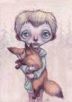 Boy and Fox by arseniy1982