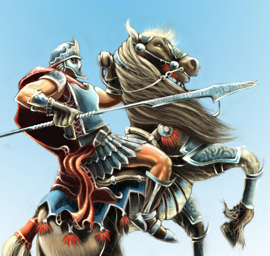 Knight on Horse by jessewood on DeviantArt
