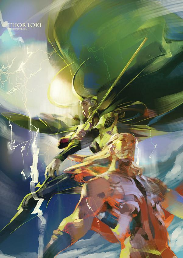 Thor  Loki by iammovan