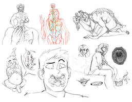 Vore Sketchdump 1/19 by VoraciousPanda