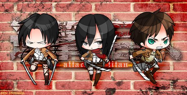 Attack on Titan Chibi Set by GenIshihara