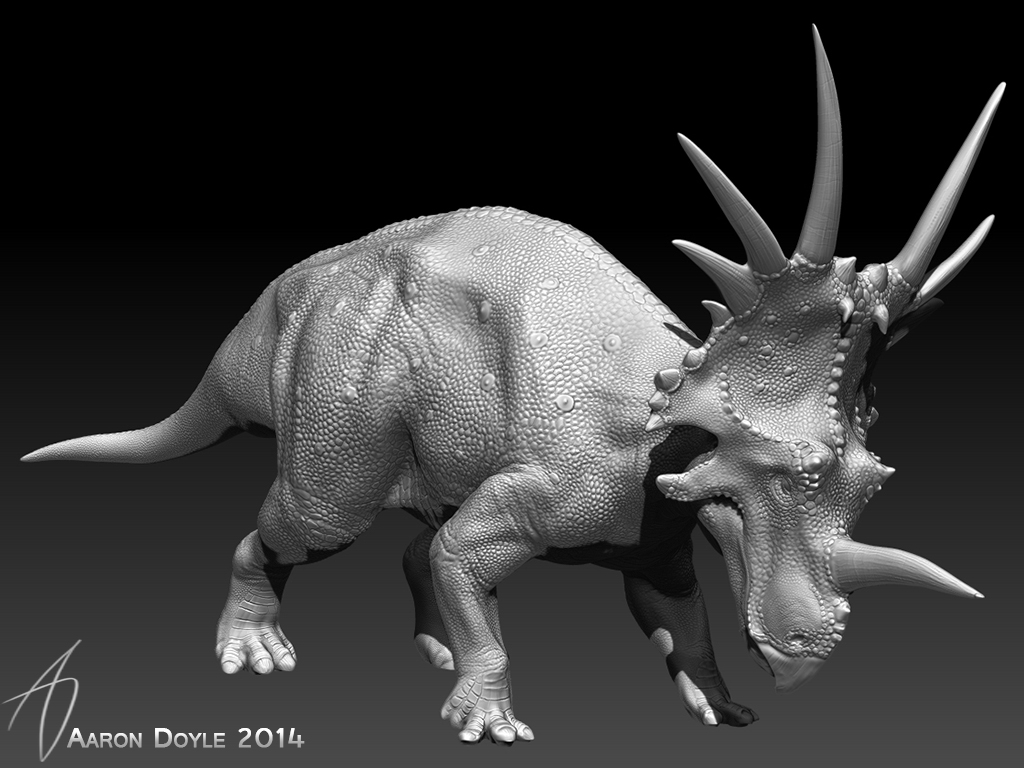 Styracosaurus sculpture by AaronDoyle