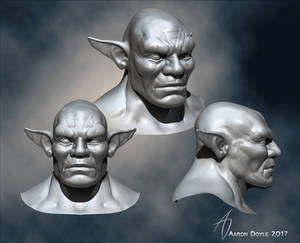 WIP orc bust
