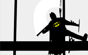 Batman Washing Windows by TREYisRAD