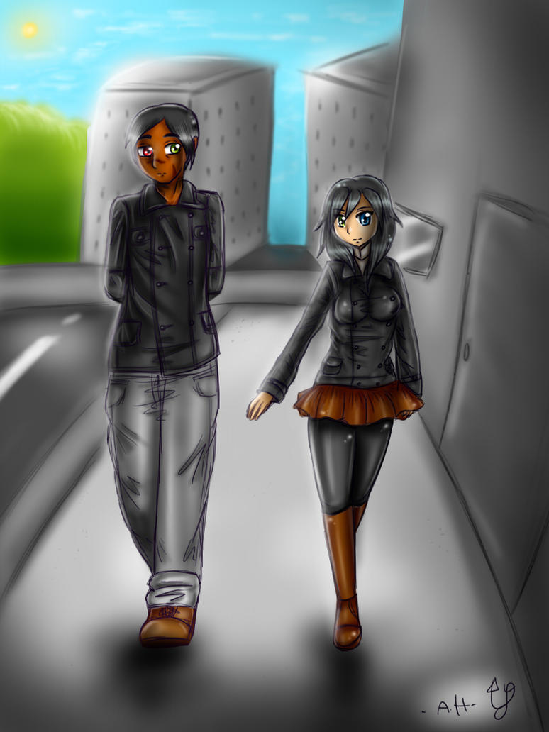 Walking together by distractthemonster
