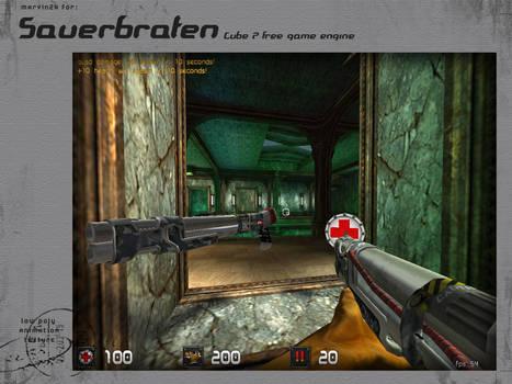 Low poly shotgun