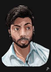 Portrait Self by Zeeshanart