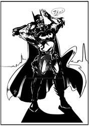 Batman Joestar by Zeeshanart