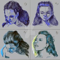 Expressions Exercise On Photoshop by Zeeshanart
