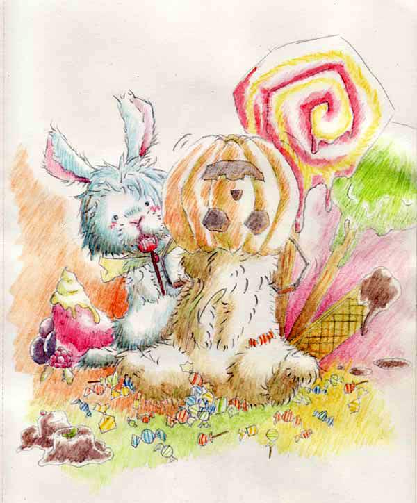 [old art] halloween Bunny by ryoubunny