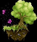 Flying island - Pixel by Vicingus