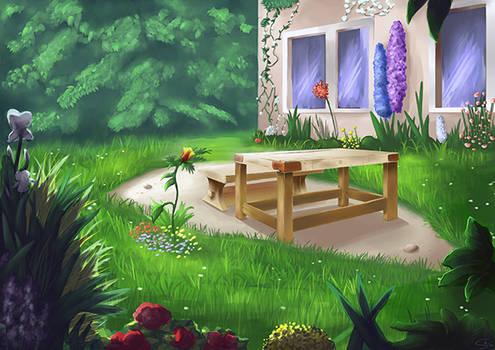Garden - Matte Painting Practice